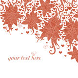 Fine colorful pattern of red color Stock Photography