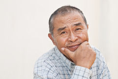 Fine confident old man portrait Royalty Free Stock Photos