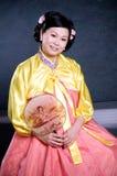 Fine coreana di signora su Fotografia Stock Libera da Diritti