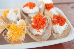 Fine croccante dolce tailandese della crema su Fotografie Stock