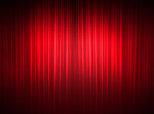 Fine curtains of a theater. Red curtain of a classical theater Stock Image