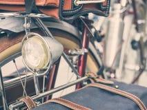 Fine d'annata della luce della bicicletta su Fotografia Stock Libera da Diritti