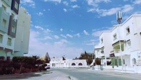 Fine day in hamamet in tunisia stock photo