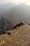 Fine day on the wall. The Great wall of china in spring Stock Photos
