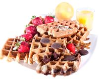 Fine decorated Waffles Stock Photo