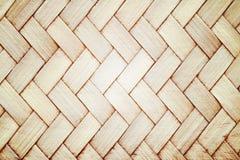 Fine del bambù tessuta Brown su struttura Immagini Stock