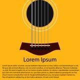 Fine del corpo della chitarra acustica sullo spazio della copia royalty illustrazione gratis