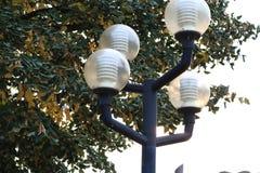 Fine del dettaglio della lampada dell'iluminazione pubblica su Immagini Stock Libere da Diritti