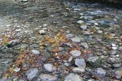 Fine del fiume della montagna su Fotografia Stock