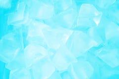 Fine del fondo del ghiaccio sulla vista Fotografie Stock