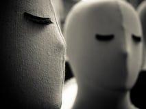 Fine del fronte del manichino su fotografie stock