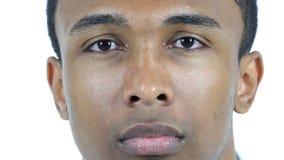 Fine del fronte dell'uomo di colore Fotografia Stock Libera da Diritti