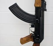 Fine del fucile di assalto del AK-47 in su Fotografie Stock