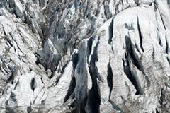 Fine del ghiacciaio di Argentiere su Fotografie Stock Libere da Diritti