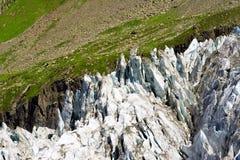 Fine del ghiacciaio di Argentiere su Fotografia Stock Libera da Diritti