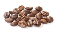 Fine del gruppo del chicco di caffè in su Fotografia Stock Libera da Diritti