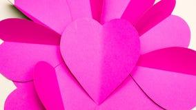Fine del gruppo produttore di carta del cuore su Fotografia Stock Libera da Diritti