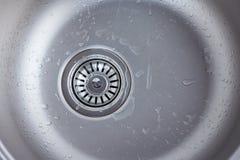 Fine del lavandino di cucina su Fotografia Stock Libera da Diritti
