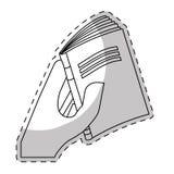 Fine del libro bianco nell'immagine della mano illustrazione di stock