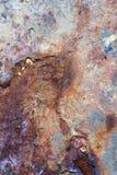 Fine del metallo di lerciume sulla foto Immagini Stock