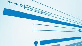 Fine del motore di ricerca di web di Internet sulla prospettiva 3D Immagini Stock