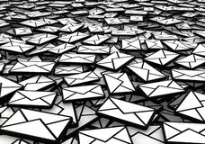 Fine del mucchio della posta illustrazione vettoriale