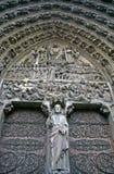 Fine del Notre Dame in su fotografie stock libere da diritti