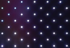 Fine del pannello del LED su Una fila dei diodi a emissione luminosa immagini stock