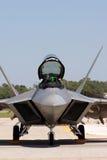 Fine del rapace F-22 in su Fotografie Stock