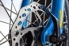Fine del rotore del freno a disco del ciclo su Fotografia Stock