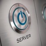 Fine del tasto del server in su illustrazione vettoriale