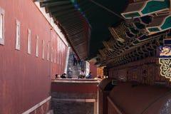 Fine del tempio del cinese tradizionale su Fotografia Stock