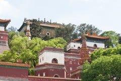 Fine del tempio del cinese tradizionale su Immagine Stock