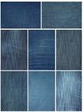 Fine del tessuto dei jeans in su Immagini Stock