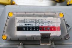 Fine del tester del consumo del gas naturale su immagini stock libere da diritti