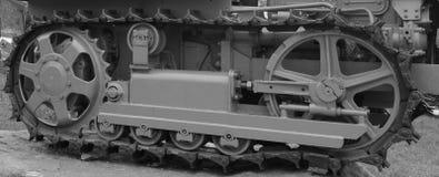 Fine del trattore a cingoli del trattore su Immagine Stock