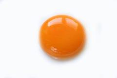Fine del tuorlo d'uovo su Fotografie Stock