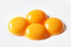 Fine del tuorlo d'uovo su Fotografia Stock
