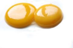 Fine del tuorlo d'uovo su Fotografie Stock Libere da Diritti