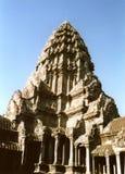 Fine del wat di Angkor in su fotografia stock libera da diritti