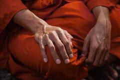 Fine dell'abito del monaco Fotografie Stock Libere da Diritti