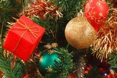 Fine dell'albero di Natale in su Immagine Stock