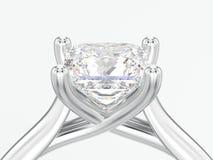 fine dell'illustrazione 3D sul illusio di impegno dell'argento o dell'oro bianco illustrazione vettoriale