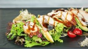 Fine dell'insalata dell'anguilla su archivi video