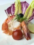 Fine dell'insalata dei frutti di mare su Immagini Stock Libere da Diritti