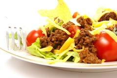 Fine dell'insalata del Taco in su Fotografia Stock