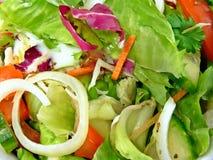 Fine dell'insalata Mixed in su Immagine Stock Libera da Diritti
