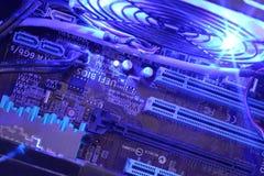 Fine dell'interno del computer su Fotografie Stock