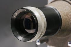 Fine dell'obiettivo del proiettore in su Fotografia Stock Libera da Diritti