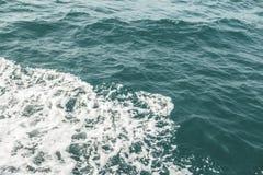 Fine dell'onda del mare su, vista di angolo basso Fotografia Stock